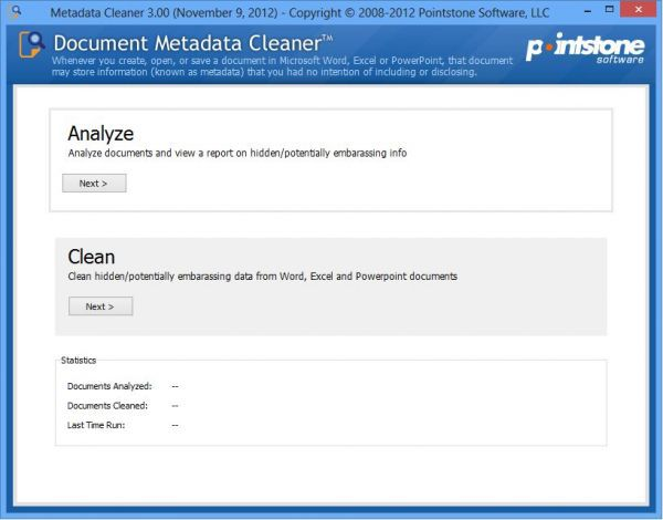 Vorschau Document Metadata Cleaner - Bild 1