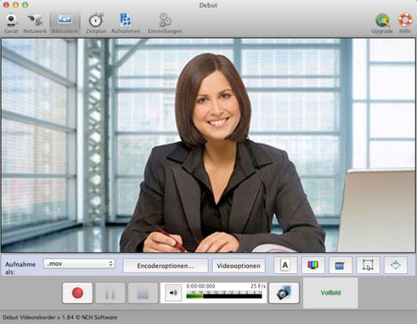 Vorschau Debut Video-Aufnahme-Programm Mac - Bild 1