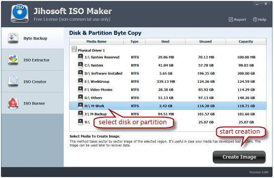 Vorschau Jihosoft ISO Maker Free - Bild 1