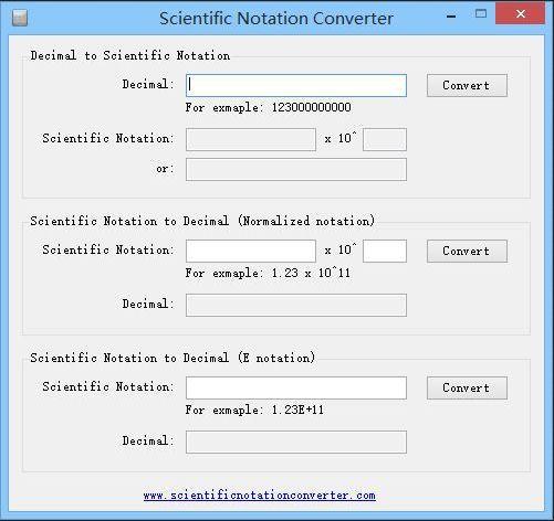Vorschau Scientific Notation Converter - Bild 1