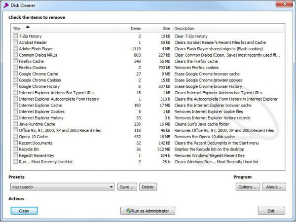 Vorschau Disk Cleaner Portable - Bild 1