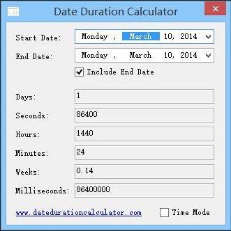 Vorschau Date Duration Calculator - Bild 1