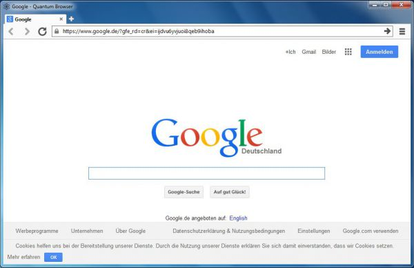 Vorschau Quantum Browser - Bild 1