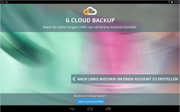 Vorschau G Cloud Backup für Android - Bild 1