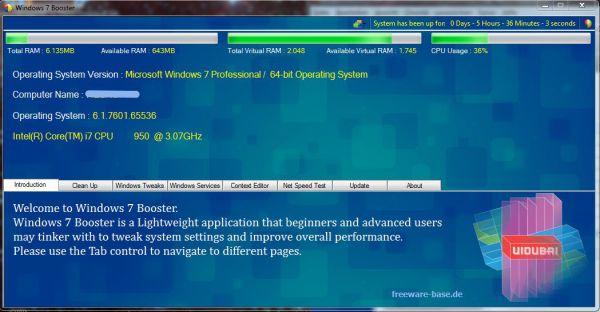 Vorschau Windows 7 Booster - Bild 1
