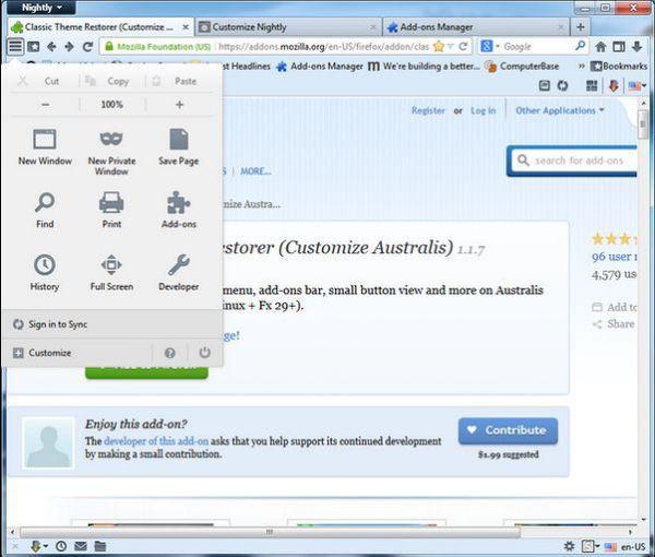 Vorschau Classic Theme Restorer for Firefox - Bild 1