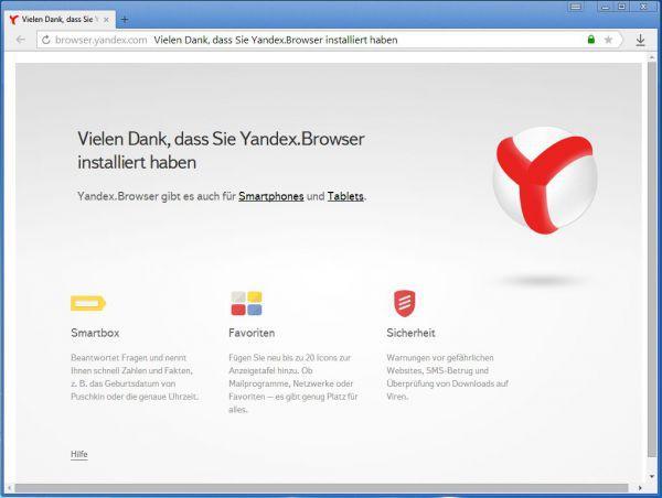 Vorschau Yandex Browser - Bild 1
