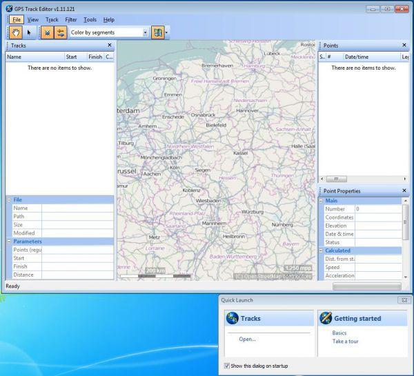 Vorschau GPS Track Editor - Bild 1