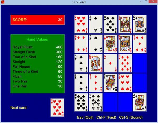 Vorschau 5 x 5 Poker - Bild 1