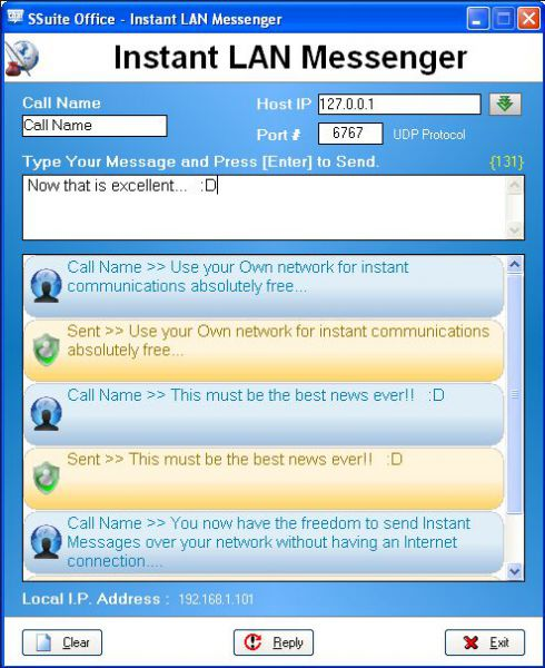 Vorschau SSuite IM LAN Chat - Bild 1