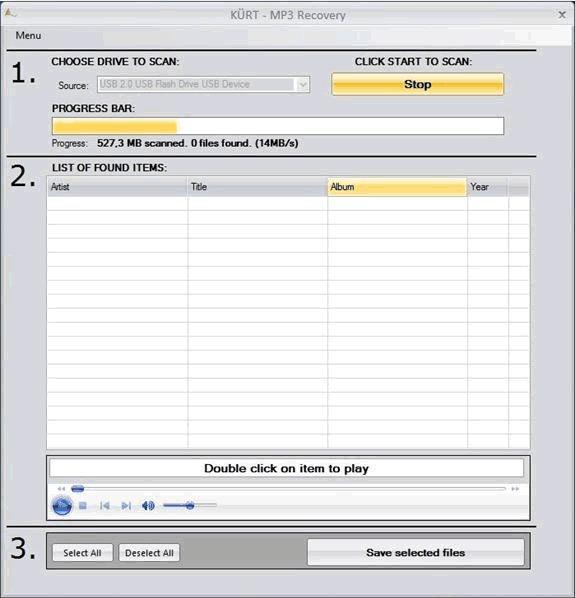 Vorschau KUERT MP3 Datenrettung - Bild 1