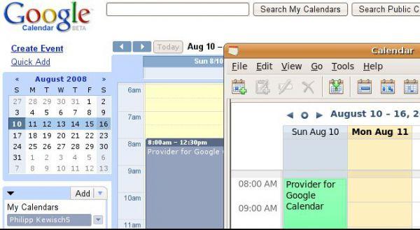 Vorschau Provider for Google Calendar - Bild 1