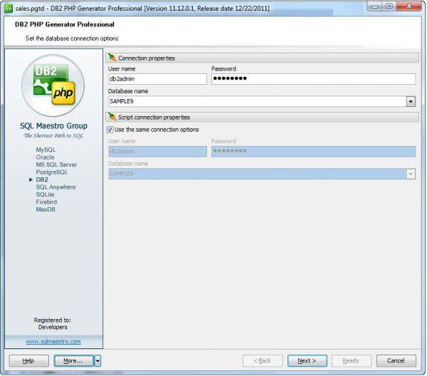 Vorschau DB2 PHP Generator Freeware Edition - Bild 1