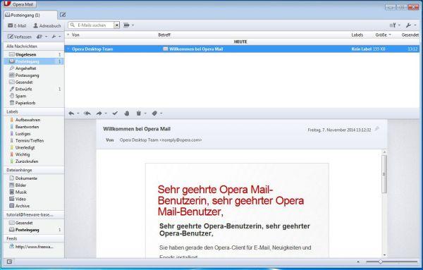 Vorschau Opera Mail - Bild 1