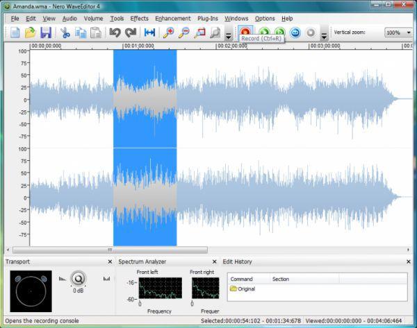 Vorschau Nero Wave Editor - Bild 1