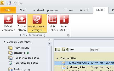 Vorschau MailTD MailToDisk - Bild 1