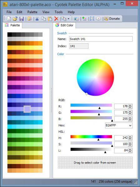 Vorschau Cyotek Color Palette Editor - Bild 1