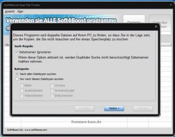 Vorschau Soft4Boost Dup File Finder - Bild 1