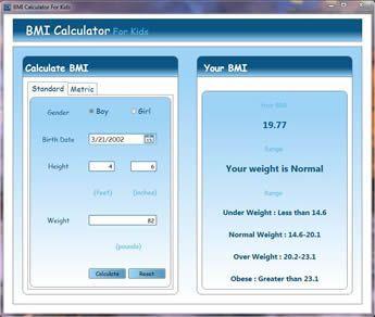 Vorschau BMI Calculator for Kids - Bild 1