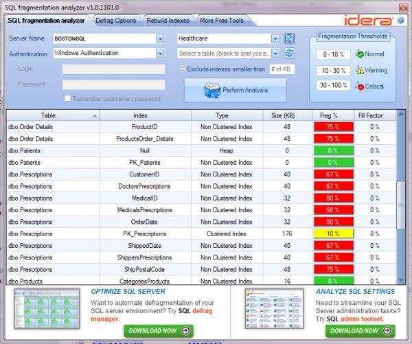 Vorschau SQL Fragmentation Analyzer - Bild 1