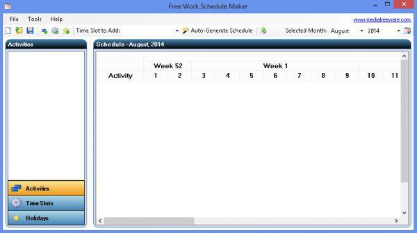 Vorschau Free Work Schedule Maker - Bild 1