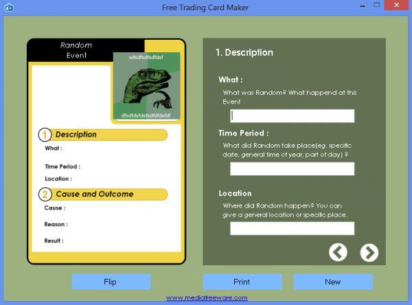 Vorschau Free Trading Card Maker - Bild 1