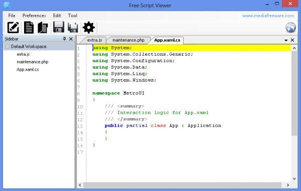 Vorschau Free Script Viewer - Bild 1