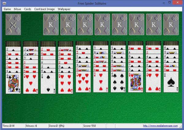 Spider Solitaire Groß