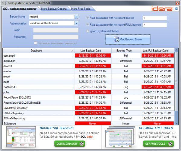 Vorschau SQL Backup Status Reporter - Bild 1