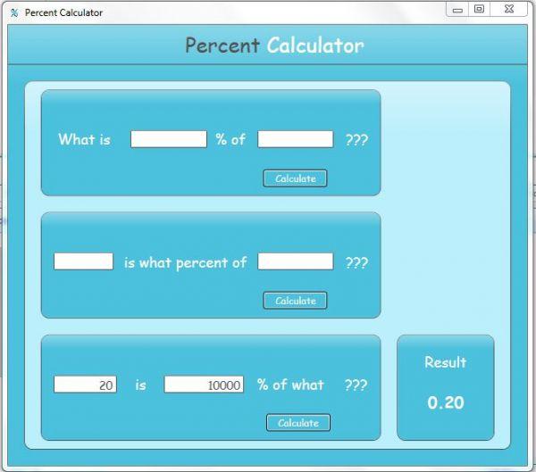 Vorschau Free Percent Calculator - Bild 1