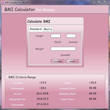 Vorschau BMI Calculator for Women - Bild 1