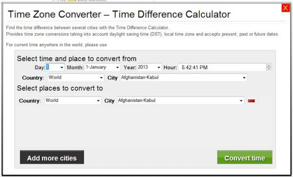 Vorschau Time Zone Converter - Time Difference Calculator - Bild 1