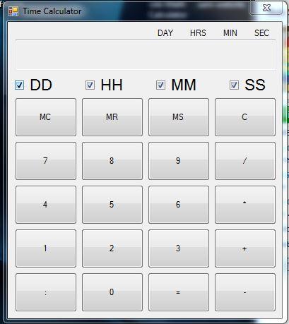 Vorschau Free Time Calculator - Bild 1