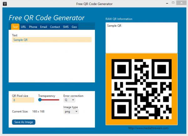 Vorschau Free QR Code Generator - Bild 1