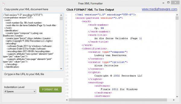 Vorschau Free XML Formatter - Bild 1