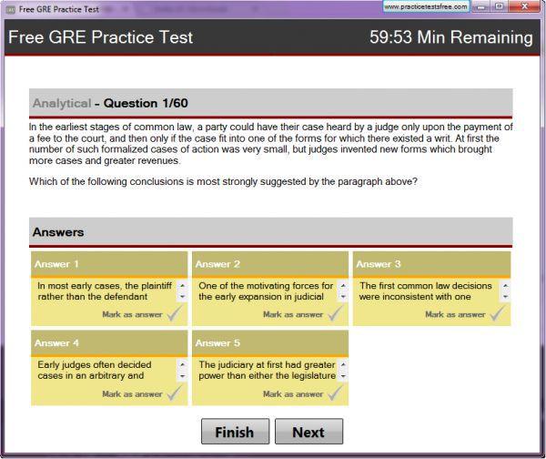 Vorschau Free GRE Practice Test - Bild 1