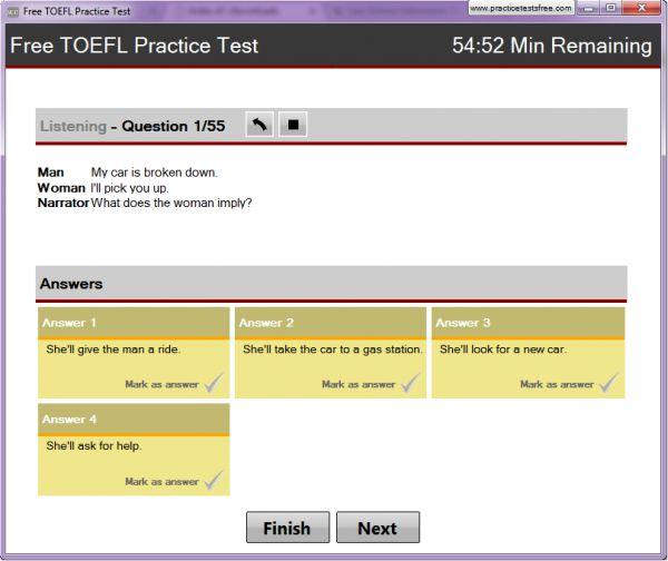 Vorschau Free TOEFL Practice Test - Bild 1