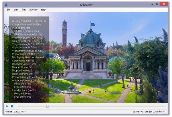 Vorschau Media Player .NET MPDN - Bild 1
