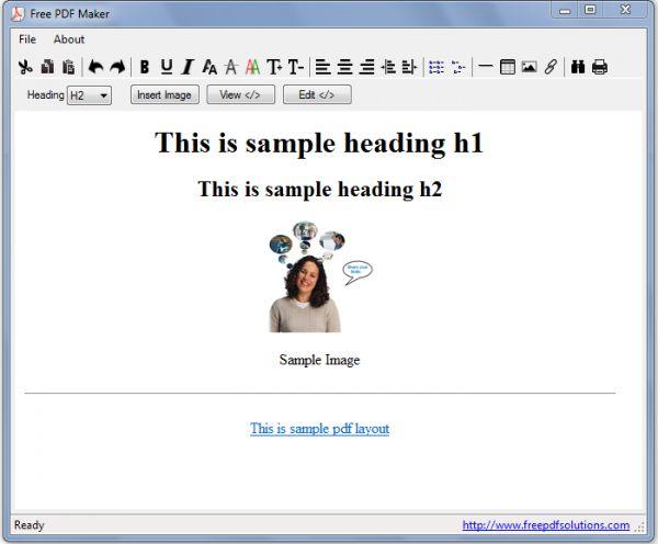 Vorschau Free PDF Maker - Bild 1