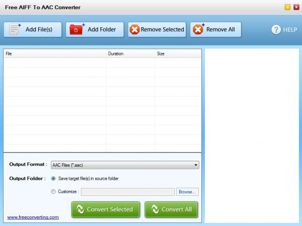 Vorschau Free AIFF to AAC Converter - Bild 1