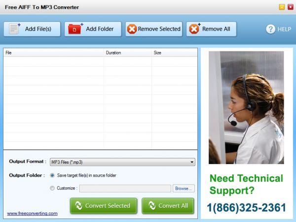Vorschau Free AIFF to MP3 Converter - Bild 1