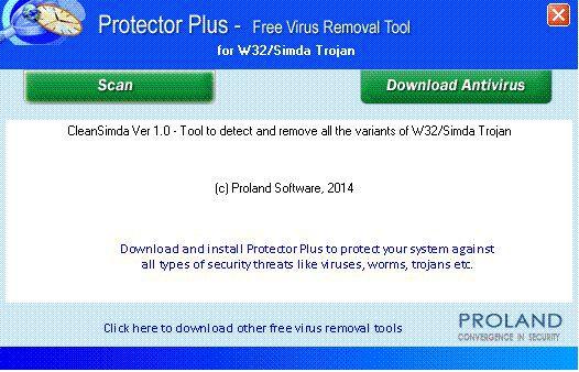 Vorschau W32-Simda Free Virus Removal Tool - Bild 1