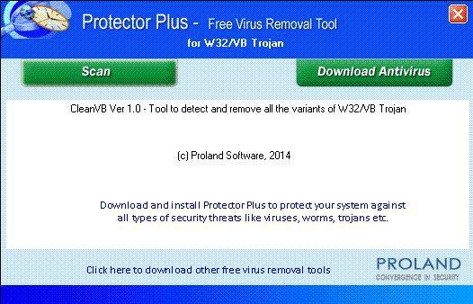 Vorschau W32-VB Free Virus Removal Tool - Bild 1