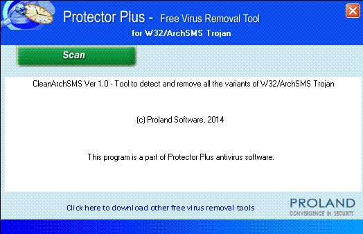 Vorschau W32-ArchSMS Free Virus Removal Tool - Bild 1
