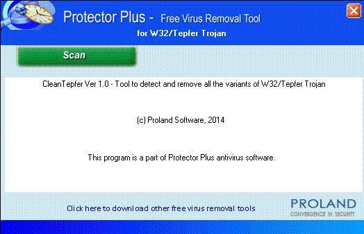 Vorschau W32-Tepfer Free Trojan Removal Tool - Bild 1