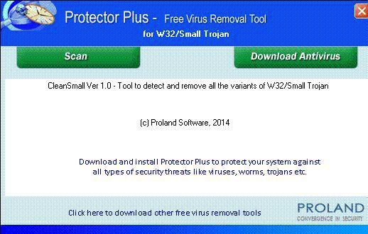 Vorschau W32-Small Free Trojan Removal Tool - Bild 1
