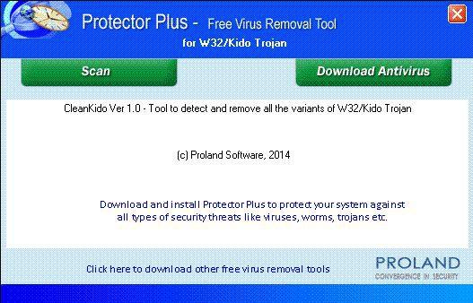 Vorschau W32-Kido Free Trojan Removal Tool - Bild 1