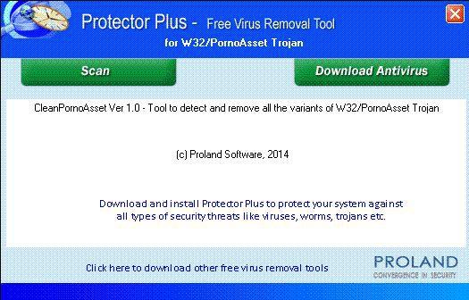 Vorschau W32-PornoAsset Free Trojan Removal Tool - Bild 1