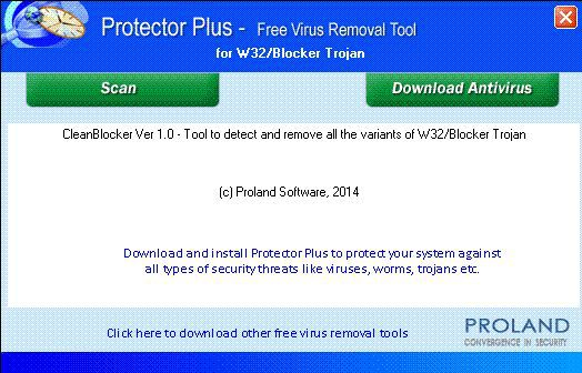 Vorschau W32-Blocker Free Trojan Removal Tool - Bild 1