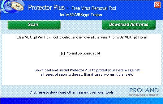Vorschau W32-VBKrypt Free Trojan Removal Tool - Bild 1